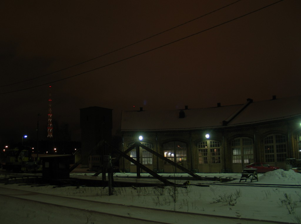 Lahden varikko talvella 2009